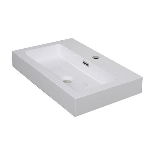 Aquazuro wastafel Arezzo 60 cm glanzend wit