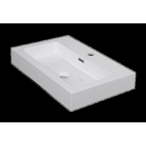 Lavabo Aquazuro Arezzo blanc brillant 60cm