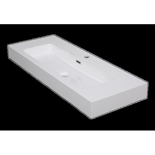 Lavabo Aquazuro Arezzo blanc brillant 100cm