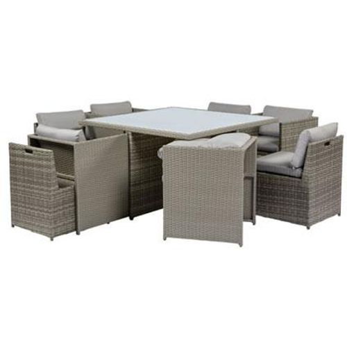 Ensemble lounge Central Park Esperanza 9pcs gris clair - 2019 -