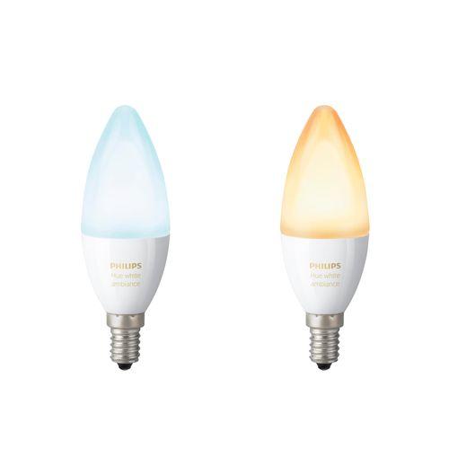 Philips Hue lamp flame wit Ambiance E14 2 stuks
