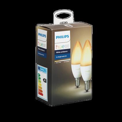 Philips Hue ampoule flamme blanc Ambiance E14 2 pièces