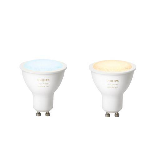 Philips Hue spot White Ambiance GU10 - 2 stuks