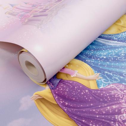 Disney Papierbehang Princess roze meerkleurig