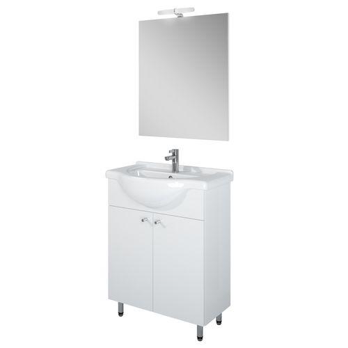 Ensemble de salle de bain AquaVive Liro blanc 65cm