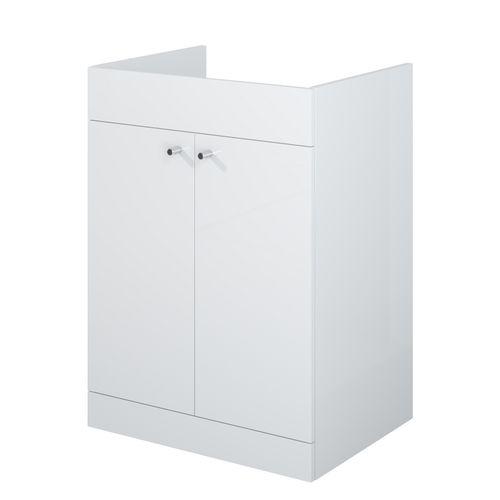 Meuble sous-lavabo AquaVive Zena blanc 60cm