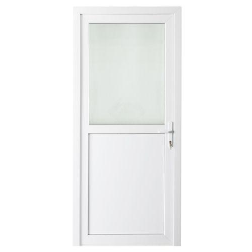 Solid buitendeur pvc 'Esterno E01' links 98 cm