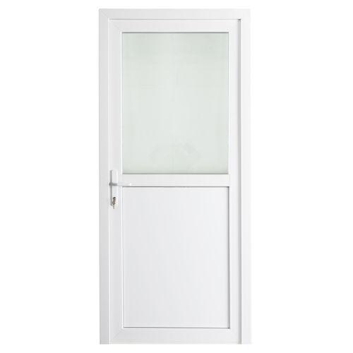 Solid buitendeur pvc 'Esterno E01' rechts 98 cm