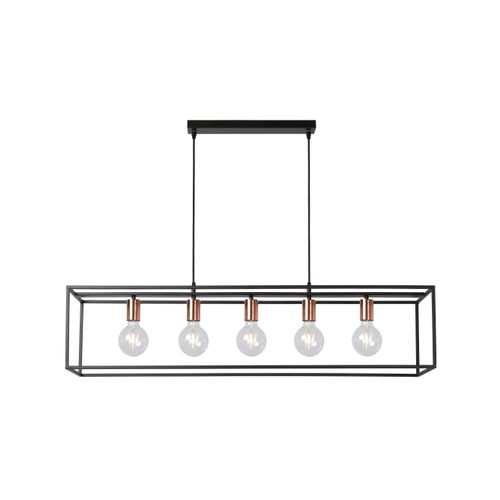 Lucide hanglamp Arthur zwart 5x5W