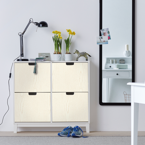 Transform zelfklevende decoratiefolie Woodgrain wit 45x200cm