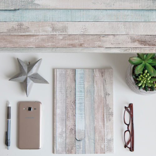Transform zelfklevende decoratiefolie Beachwood grijs blauw 45x200cm