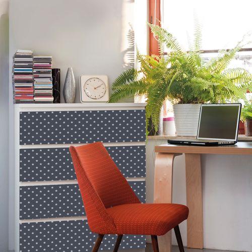 Transform film adhésif décoratif Stars gris 45x200cm