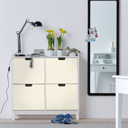 Transform zelfklevende decoratiefolie Wood wit 67,5x200cm