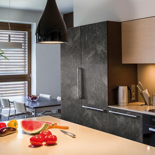 Transform zelfklevende decoratiefolie Concrete zwart 67,5x200cm