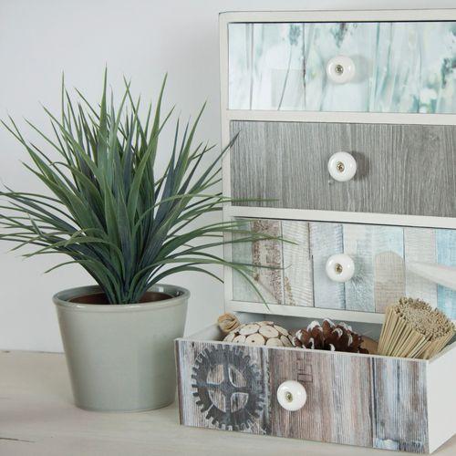 Transform film adhésif décoratif Beachwood gris bleu 67,5x200cm