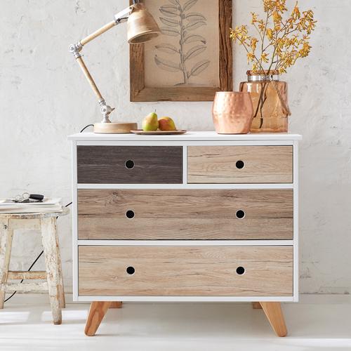 Transform zelfklevende decoratiefolie Oak donkergrijs 67,5x200cm