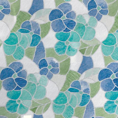 Transform zelfklevende glasfolie Madeira blauw 45x200cm