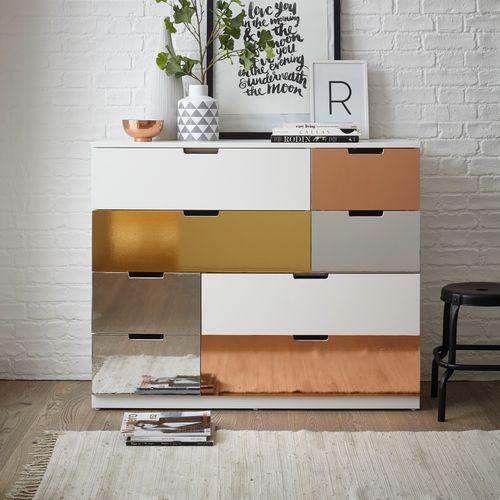 Transform zelfklevende decoratiefolie Metallic aluminium zilver 45x150cm