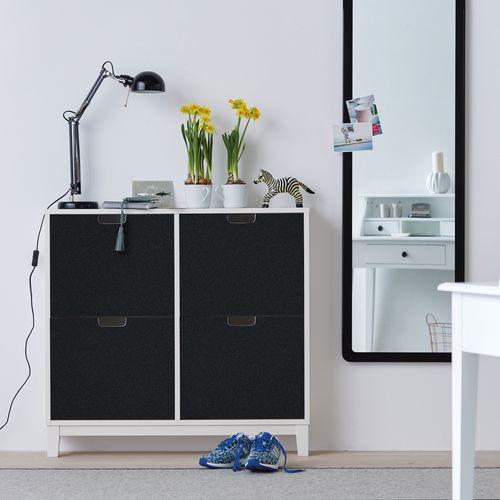Transform zelfklevende decoratiefolie Velours zwart 45x100cm