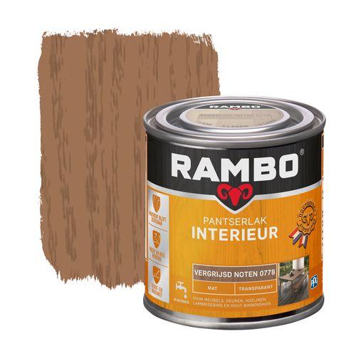 Rambo pantserlak interieur transparant mat vergrijsd noten 250ml