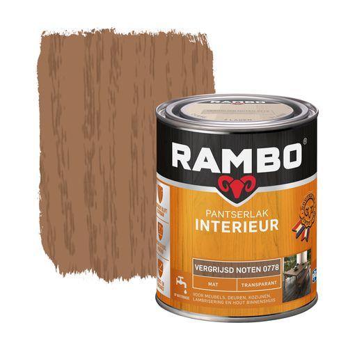 Rambo pantserlak interieur transparant mat vergrijsd noten 750ml