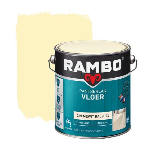 Rambo pantserlak vloer dekkend zijdeglans cremewit (RAL 9001 2500ml