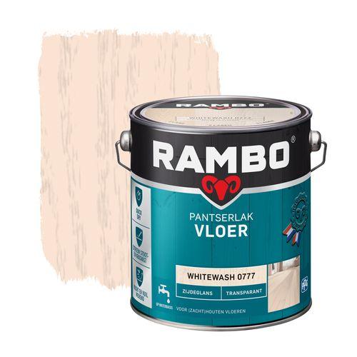 Rambo pantserlak vloer transparant zijdeglans whitewash 2500ml