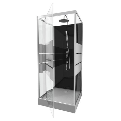 Aurlane douchecabine Study 90x90x219-230cm chroom