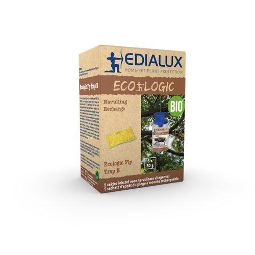 Recharge piège à mouches écologique Edialux Fly Trap B 5pcs