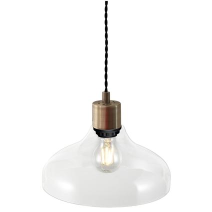 Nordlux hanglamp Alrun zwart transparant E27