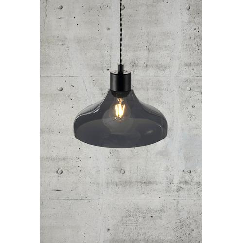 Nordlux hanglamp Alrun zwart gerookt glas E27
