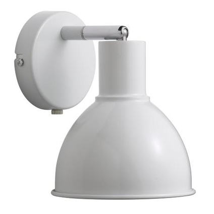 Nordlux wandlamp Pop wit chroom E27