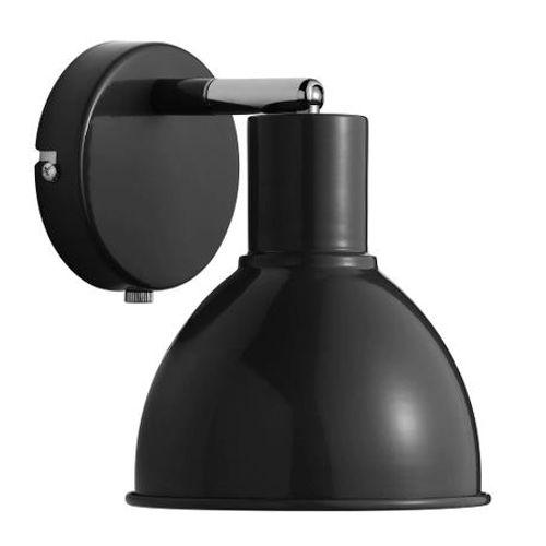Nordlux wandlamp Pop zwart chroom E27