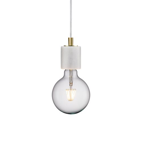 Nordlux hanglamp Siv wit marmer E27