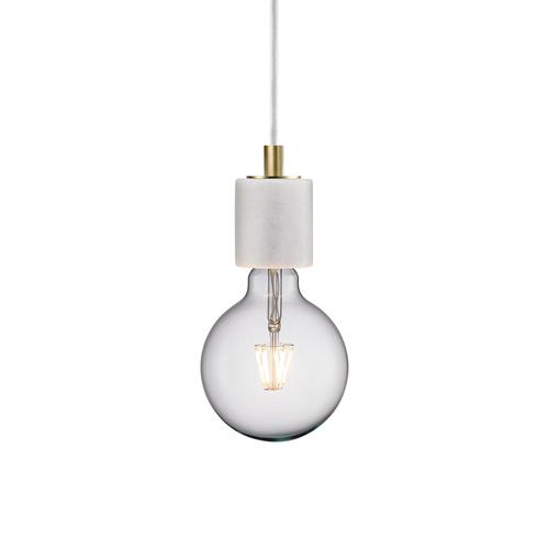 Nordlux hanglamp Siv wit marbreE27