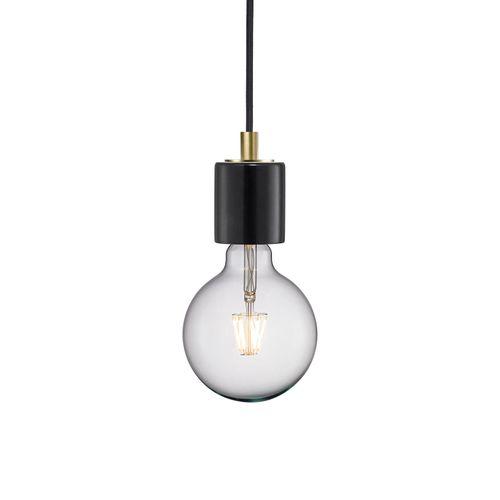 Nordlux hanglamp Siv zwart marbreE27