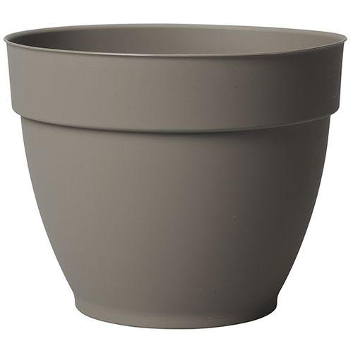 Pot de fleur Deroma Vaso Ninfea taupe à réserve d'eau Ø22cm