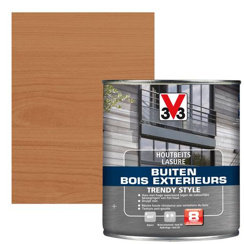 V33 houtbeits Buiten Trendy Style oude ceder zijdeglans 0,75L