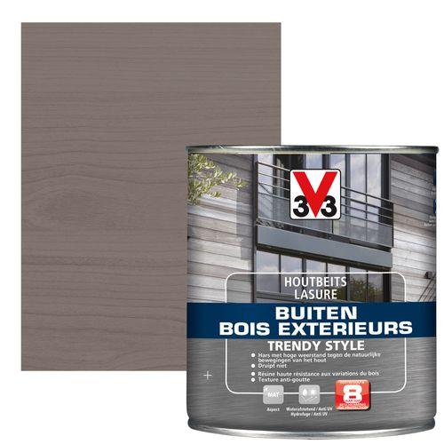 V33 houtbeits Buiten Trendy Style zilveren ceder zijdeglans 0,75L