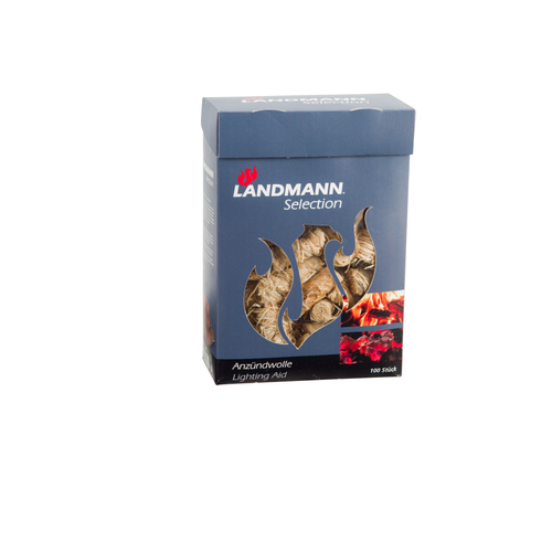 Allume-feu Landmann laine de bois – 100 pcs