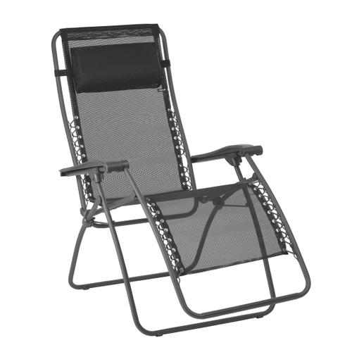 Lafuma ligstoel RSXA opvouwbaar zwart