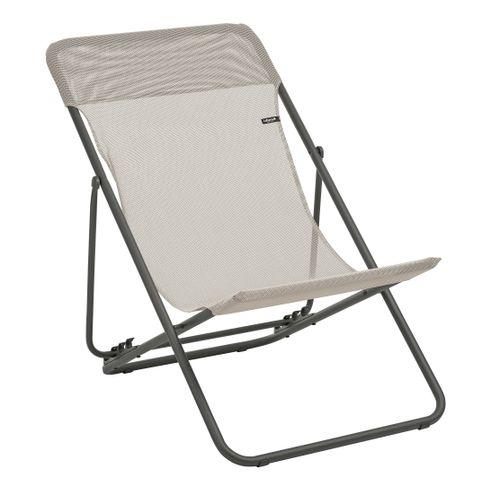 Lafuma opvouwbare strandstoel Maxi Transat beige