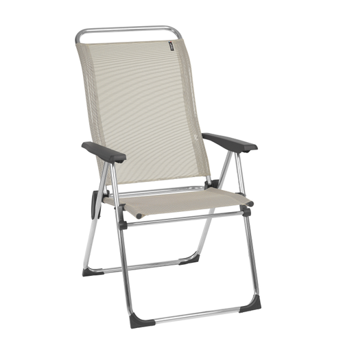 Chaise de camping Lafuma Cham multipositions pliable beige