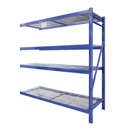 Avasco aanbouwset voor opbergrek 'Industrial Pro' staal 200 x 192 x 60 cm