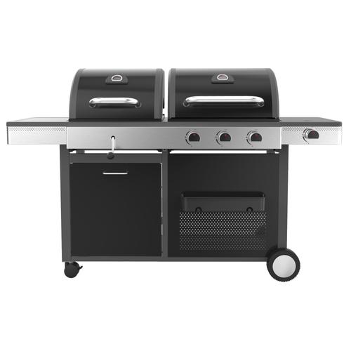 BBQ & Friends gas- en houtskoolbarbecue 'Gemini' 3kW