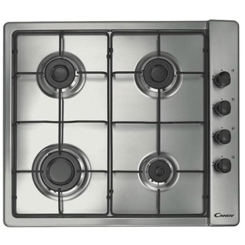 Taque de cuisson gaz 'CLG64SPX' inox 58,5 cm