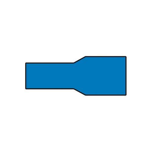 Carpoint vlakstekerhuls blauw 6,3x0,8mm 10 Stuks