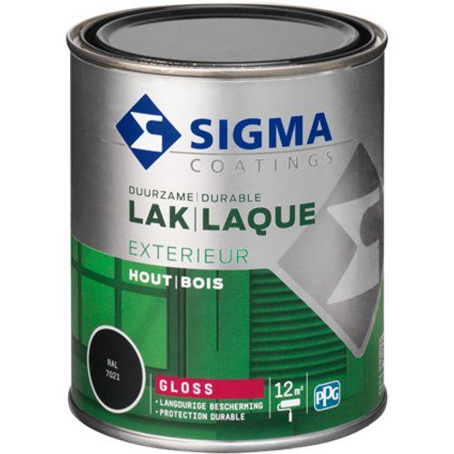 Laque Sigma gris noir brillant 750ml