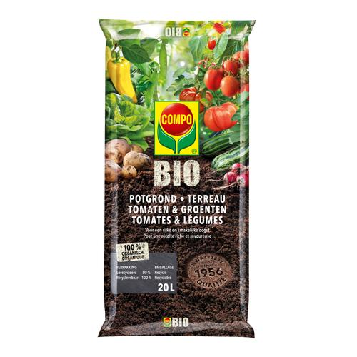 Compo Bio potgrond Tomaten & Groenten 20L