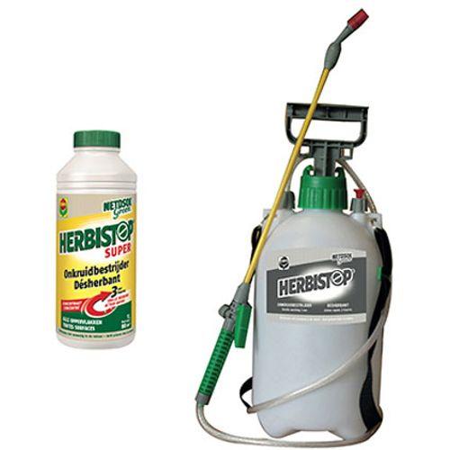 Compo Netosol Green totale onkruidbestrijder 'Herbistop Super' 1 L + Verstuiver 5 L